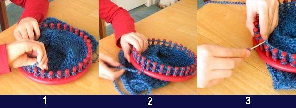 Comment utiliser des tricotins g ants projets essayer pinterest tricot et crochet et - Que faire avec un tricotin rond ...