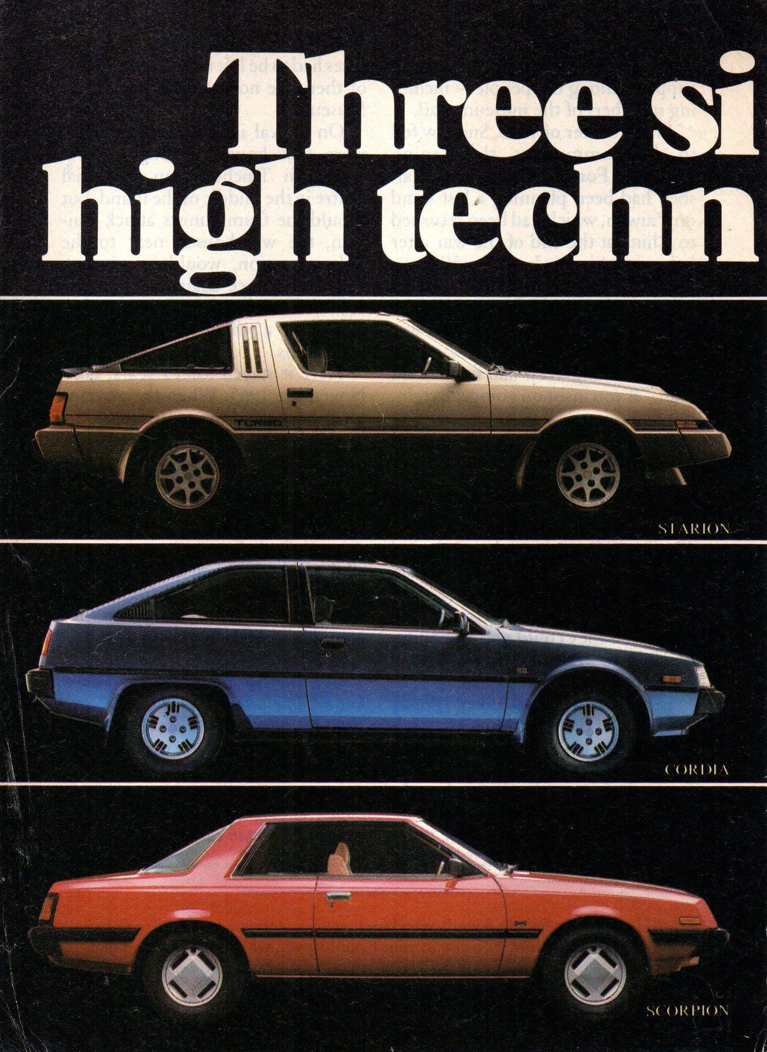 1983 Mitsubishi Cordia Starion Scorpion Page 1 Aussie