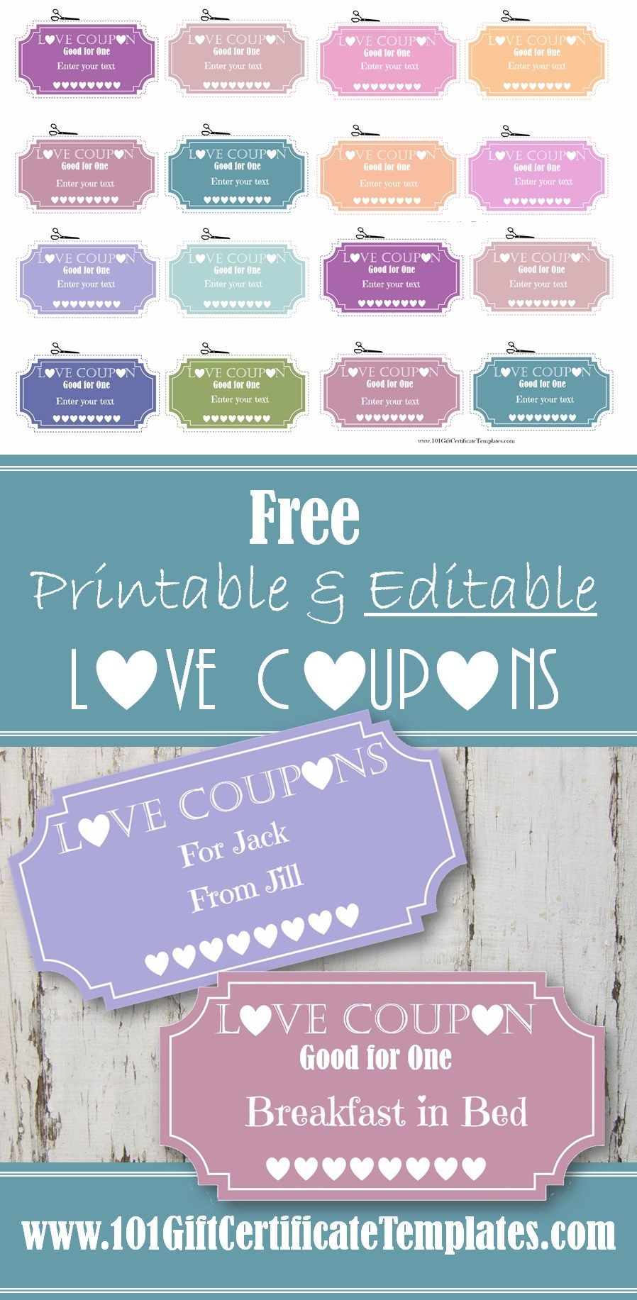 Free Printable Love Coupons That Can Be Personalized And Edited