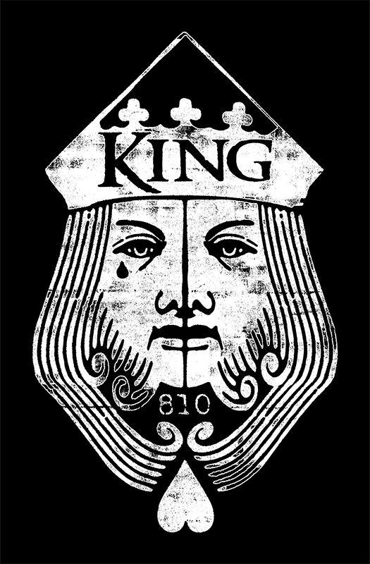 King 810 King Face Ct Bandmerch Designs Pinterest Music