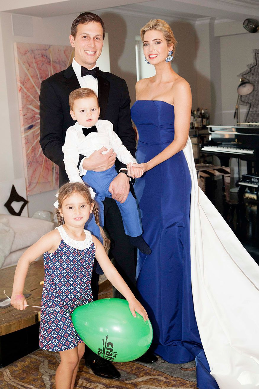 Ivanka Trump at home before the Met Gala with her kids & husband ...