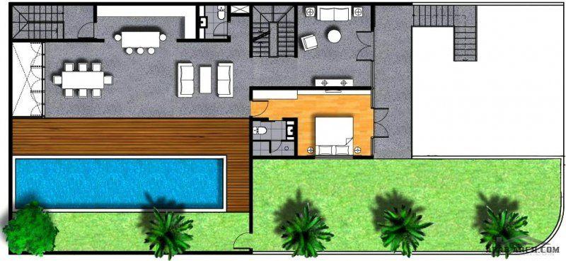 مخطط شاليه مودرن بدروم و ارضي و اول مساحة الارض 390 متر مربع مع مسبح كبير Design Your Dream House Dream House Design