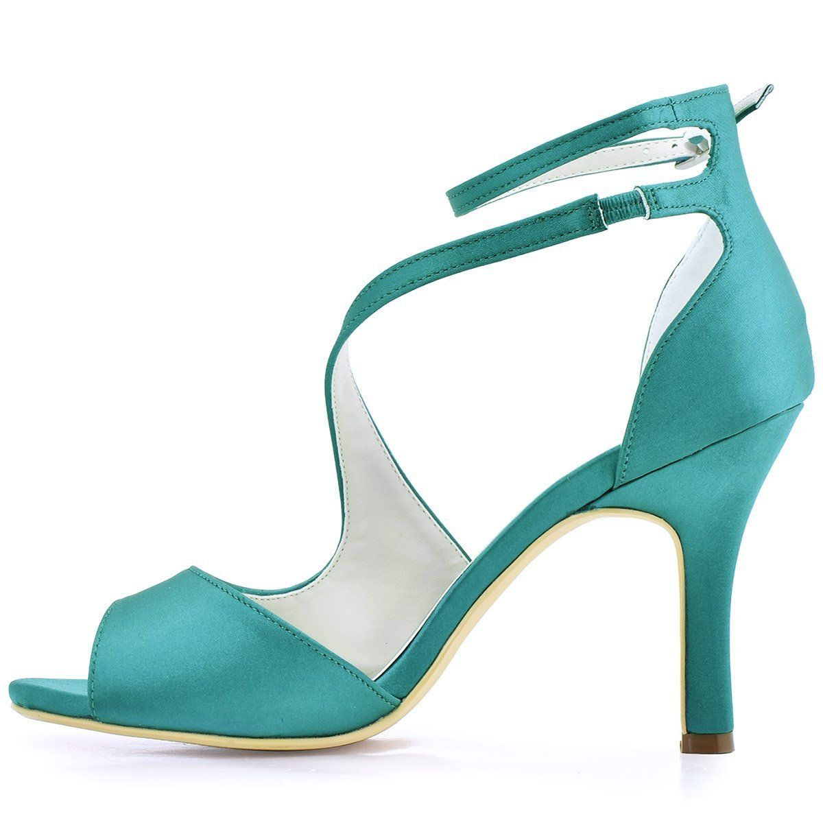 8f0b8f9544974 Amazon.com   ElegantPark Women's Peep Toe High Heels Ankle Straps ...
