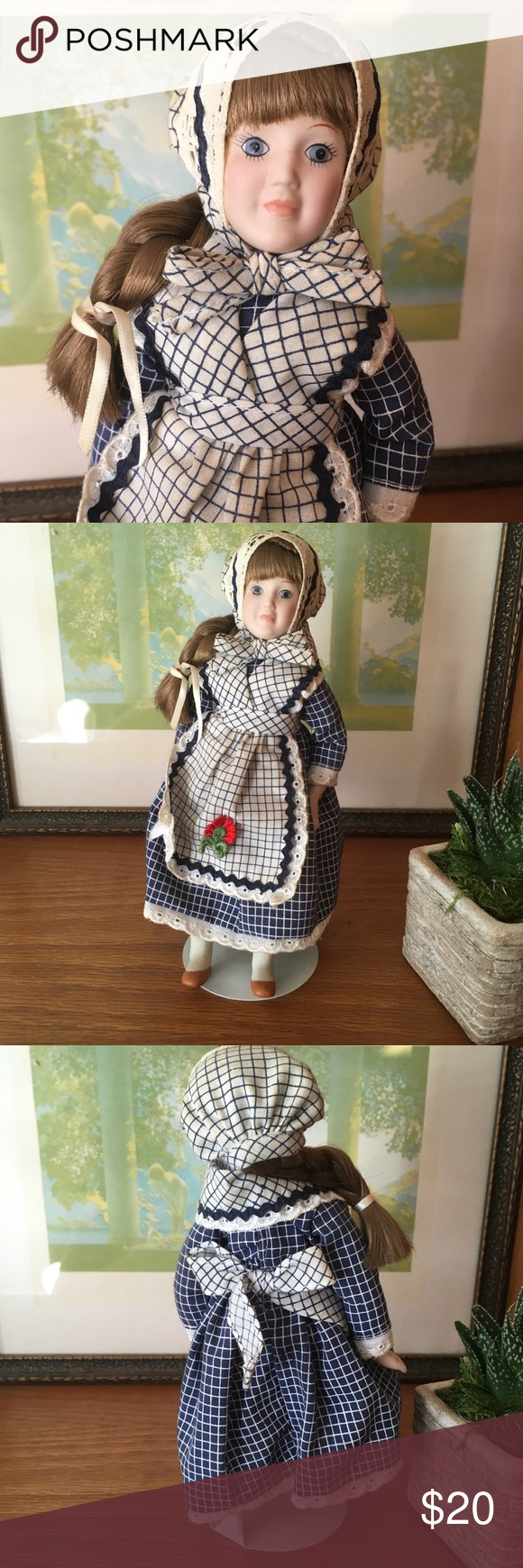 "Danbury Mint Bride Doll Cale of Denmark 9"" Danbury Mint Bride Dolls of the World ""Cale of Denmark"" doll. Very good vintage condition. Vintage Accents Decor #bridedolls"