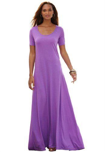 8002bd02ebd Amazon.com  Jessica London Plus Size Tee Shirt Maxi Dress  Clothing ...
