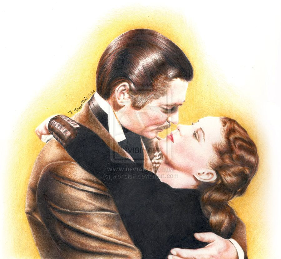 """Clark Gable and Vivien Leigh from """"Gone with the wind"""", 1939."""