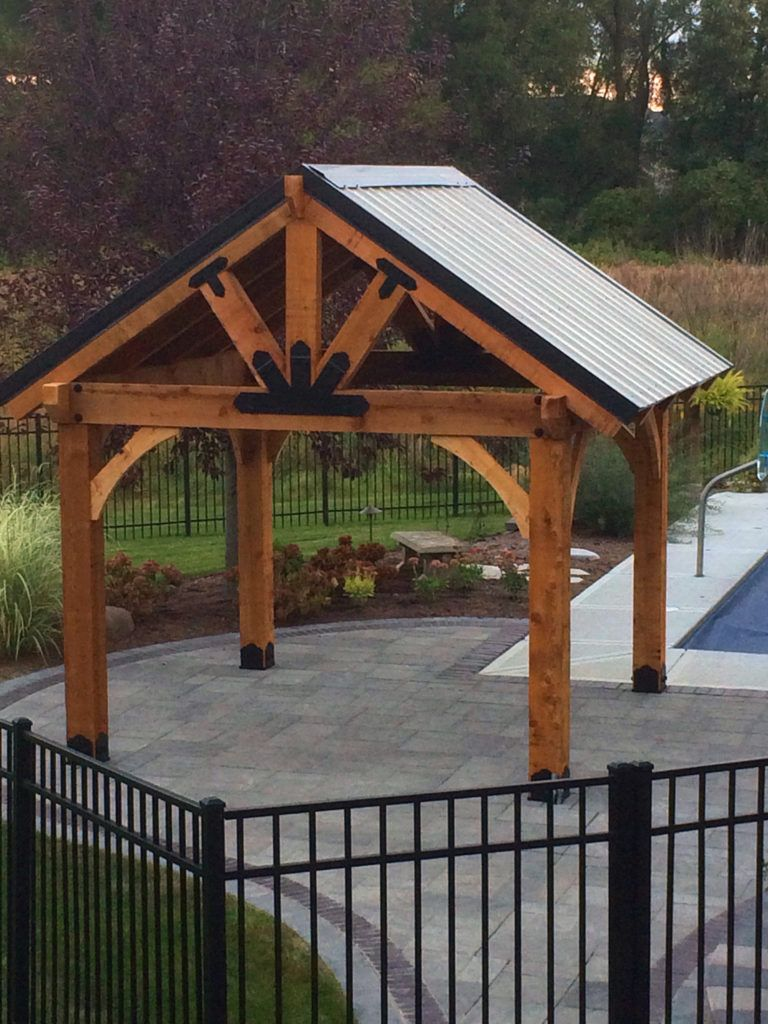 Project Plans Pavilions Pergolas 12x16 Patio Structures Ozco Backyard Gazebo Backyard Pavilion Outdoor Pergola