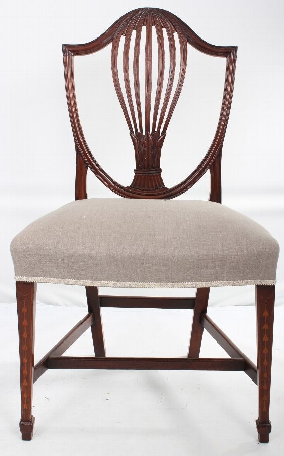 set of 4 inlaid hepplewhite style dining chairs in 2019 furniture and sundry antique dining. Black Bedroom Furniture Sets. Home Design Ideas
