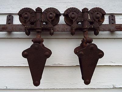 Myers Stayon Antique Sliding Barn Door Trolley Rollers With 6 Of