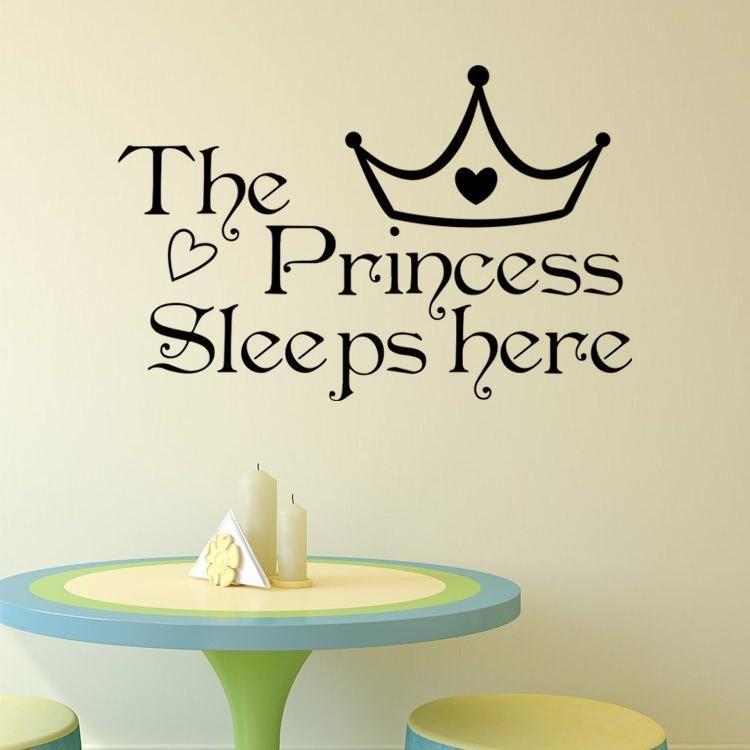 The Princess Sleeps Here Wall Sticker