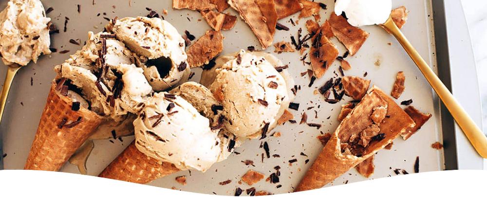 Vegan No Churn Eggnog Ice Cream So Delicious Dairy Free Recipe In 2020 Eggnog Ice Cream Ice Cream Frozen Desserts