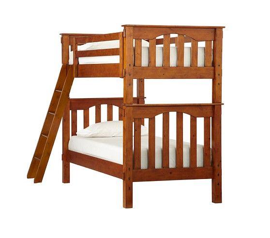 Pottery Barn Kids Kendall Bunk Bed in rustic chesnut (darker woods ...