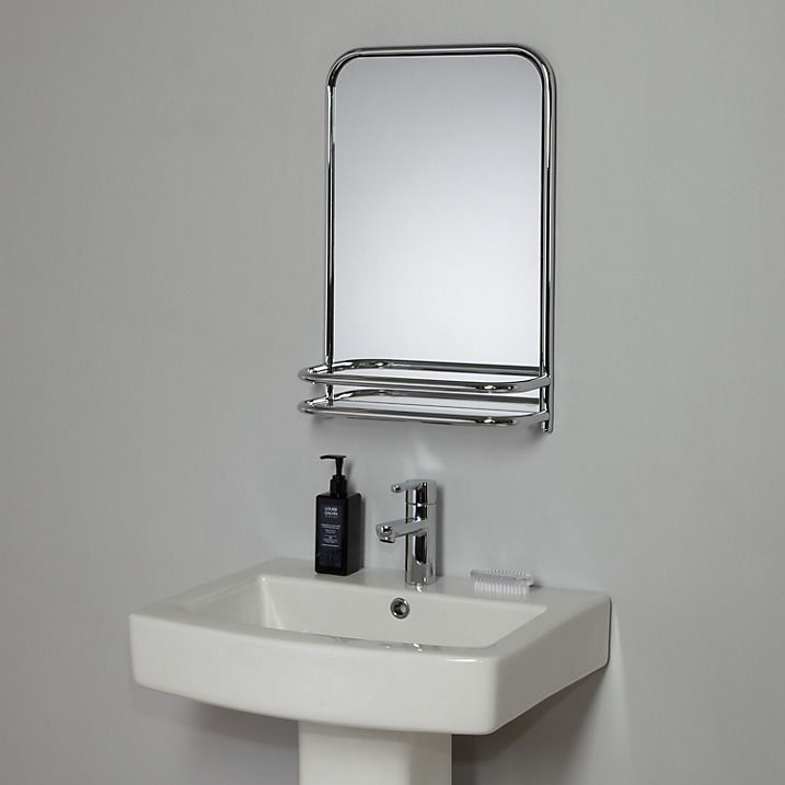 Buy John Lewis Restoration Bathroom Wall Mirror With Shelf Chrome Online At