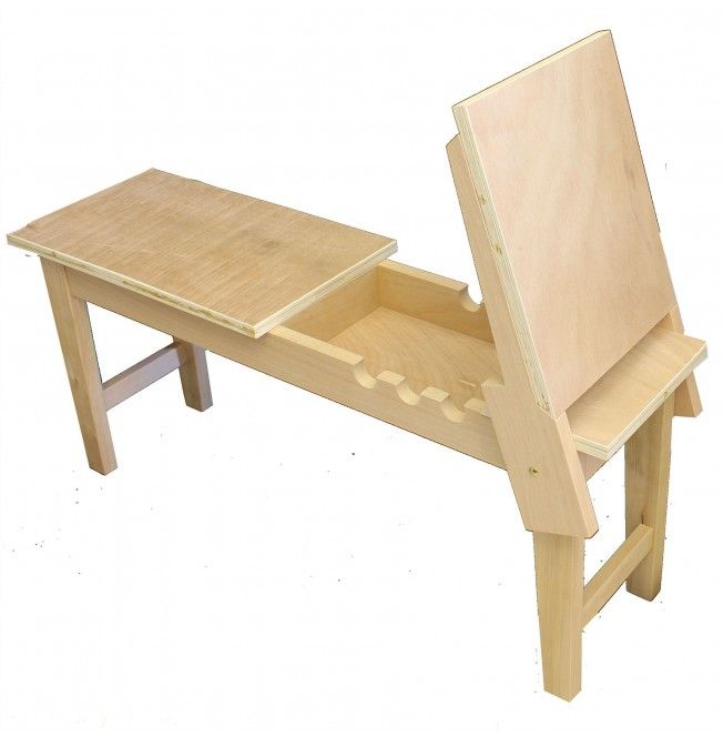 Superior Loxley Warwickshire Donkey Easel Elmwood Bench Bench Set, Furniture  Collection, Art Studios, Space
