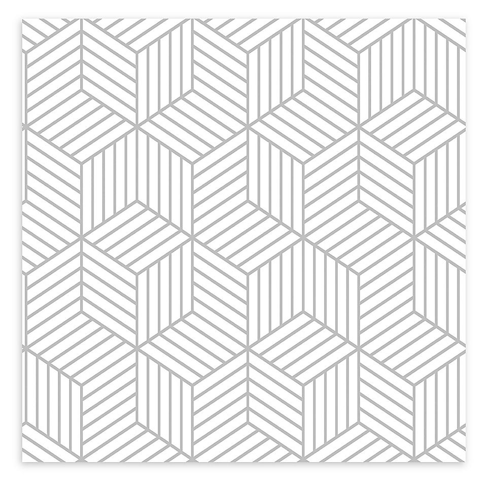 Roommates Striped Hexagon Peel And Stick Wallpaper In White Gold Bed Bath Beyond Peel And Stick Wallpaper Peelable Wallpaper Vinyl Wallpaper