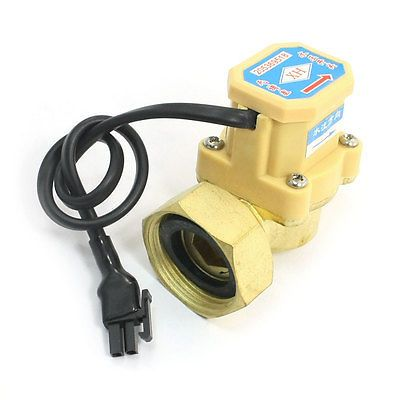 0 75 5l Min 260w 1 2pt To 1pt M F Thread Brass Water Flow Rate Sensor Counter With Images Water Flow Water Heater Sensor