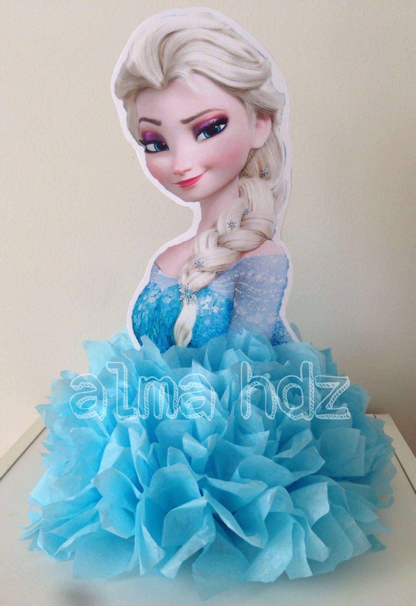 Frozen Centerpiece Frozen Centro De Mesa Disney Frozen Party Frozen Bday Party Frozen Centerpieces