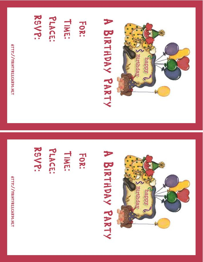 Free Birthday Invitations Maker My Birthday Pinterest Free - free birthday card printable templates