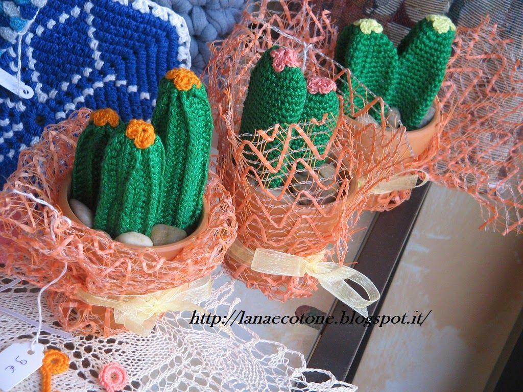 Lana e cotone maglia e uncinetto piante grasse e fiori for Piante grasse uncinetto