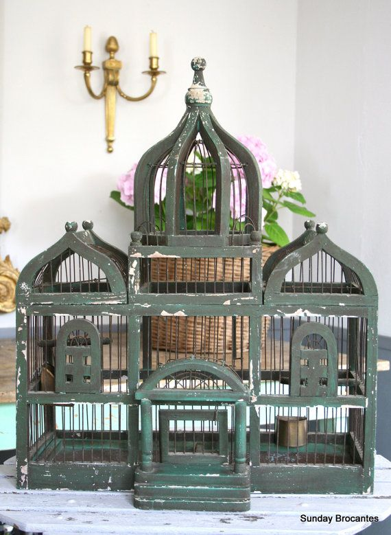 LOVE LOVE LOVE this French Antique Bird Cage by