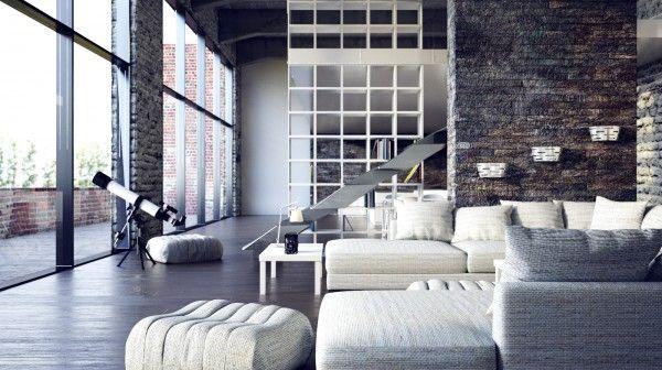 Two Beautiful Urban Lofts Visualized Loft Interior Design Modern Loft Apartment Loft Style Apartments
