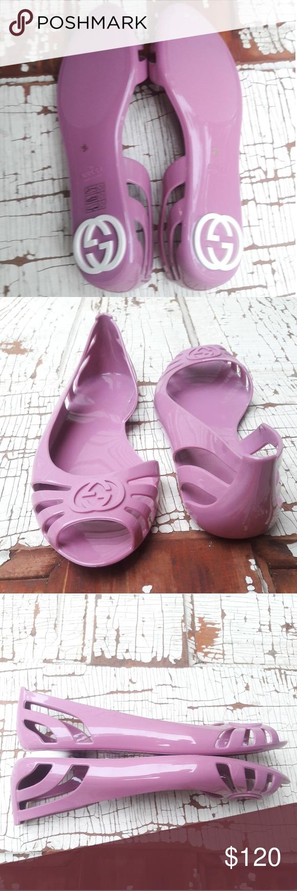 cec1810b45cdc Gucci marola jelly flats pink 36 (us 6)