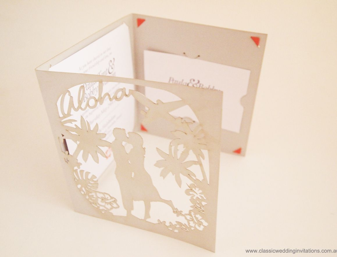 Custom Trifold invitation for a friends wedding in Hawaii - http ...