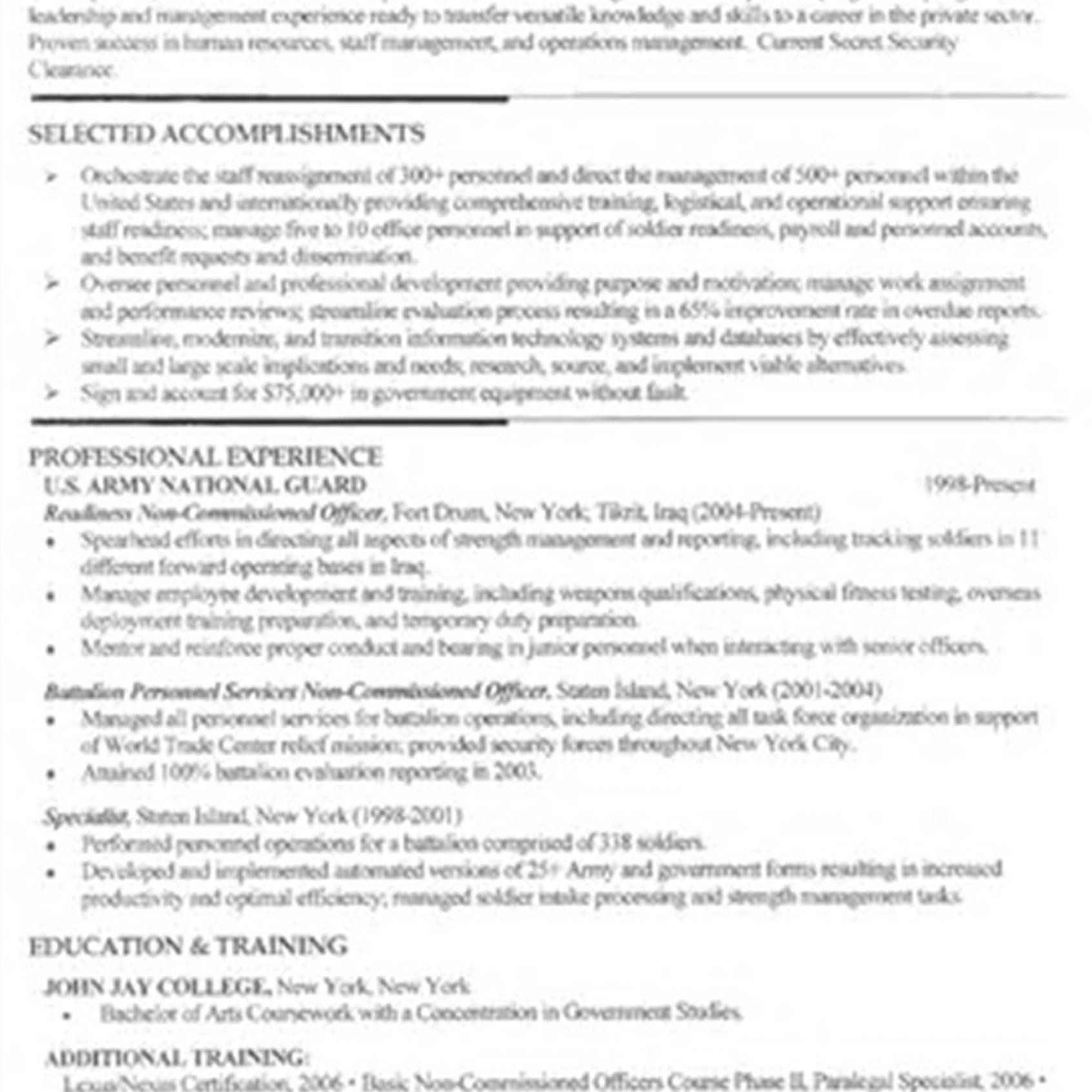 32 best of military to civilian resume examples in 2020