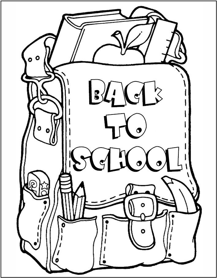 back to school coloring pages free printables Fall Coloring Pages | What's In Your Backpack? 4 Week Children's  back to school coloring pages free printables
