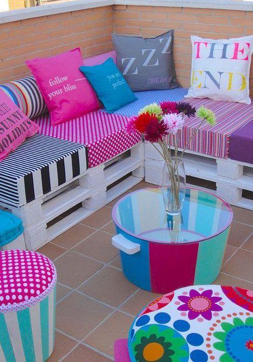 ideas decoracion palets   decoracion con palets   Pinterest ...
