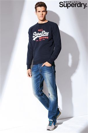 Superdry Navy Script Sweater