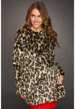 49b3a6ced7 Nicole Miller Leopard Faux Fur Coat (Leopard) - Apparel on shopstyle ...