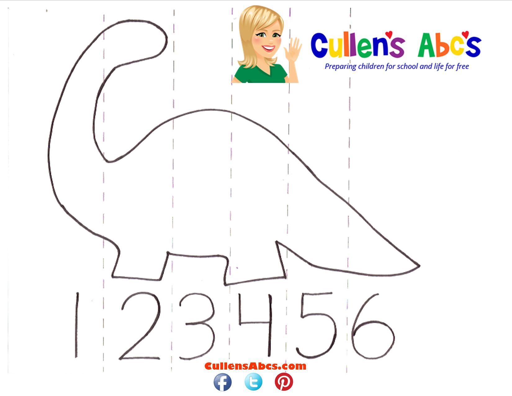 Dinosaur Number Puzzle Online Preschoolllensabcs