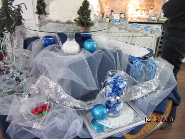 Winter Wonderland Themed Party Decoration Ideas Part - 27: Winter Themed Party Decorations | Passionate Quilter: Winter Wonderland  Party