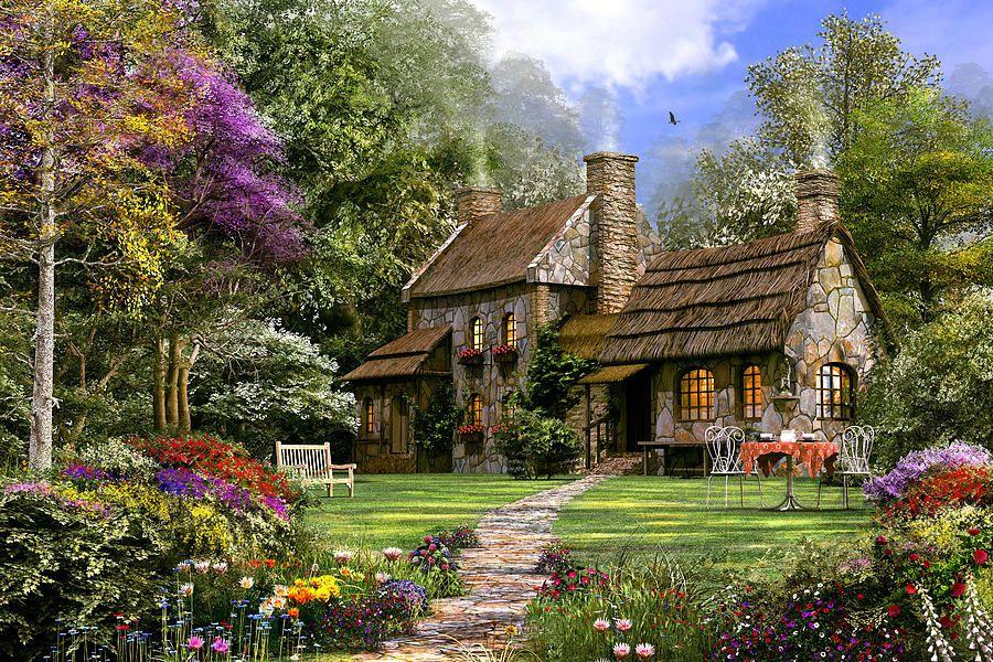 Old Flint Cottage Alte Hutte Ferienhaus Und Cottage Garten
