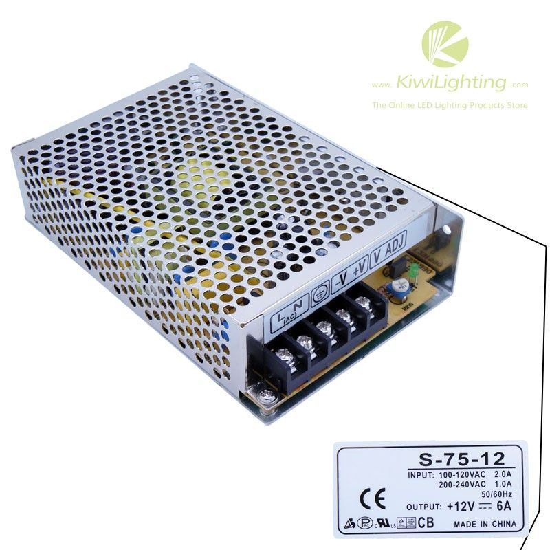 Dc 12v 6a Power Supply Input Ac 100v 240v Online Lighting Stores Dc 5v Led