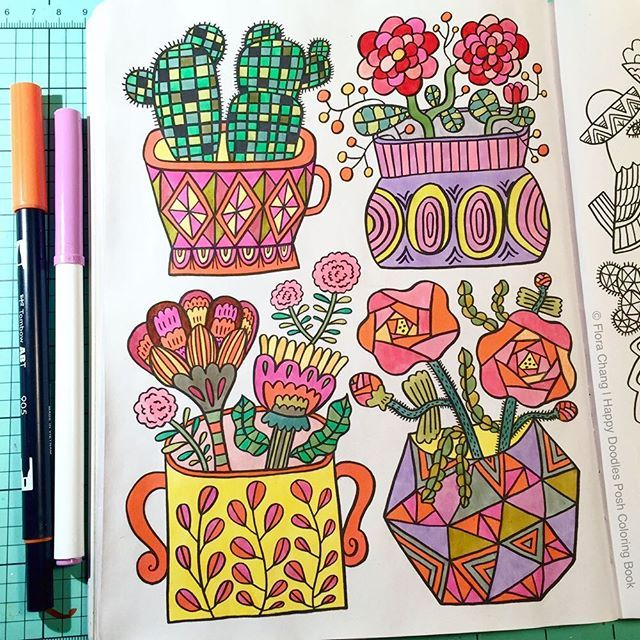 Quick Relaxing Coloring Session Tonight From My Happy Doodles Posh