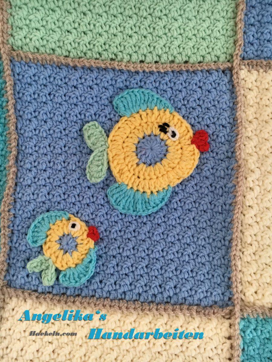 Babydecke Nemo Häkeln Anleitung Häkelanleitung Decken Häkeln