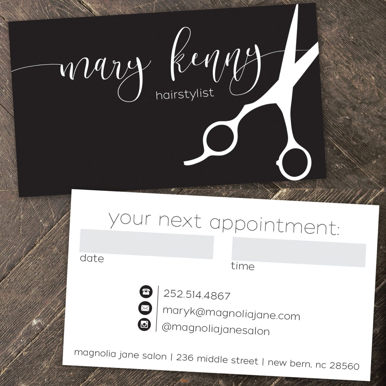 Modern Custom Hair Stylist Business Cards - PROFESSIONALLY printed ...