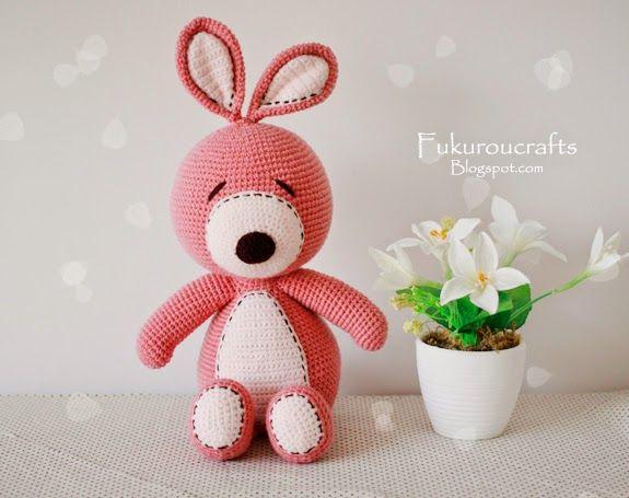 Fukuroucrafts Cute Crochet Pattern Rabbit Doll Cute Amigurumi P