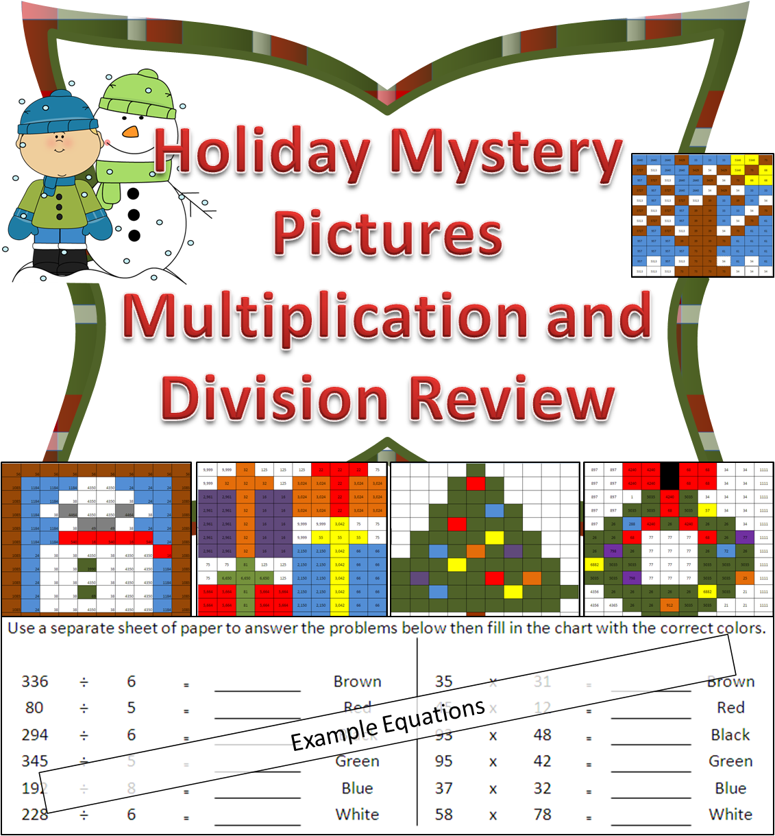 Holiday Multiplication And Division