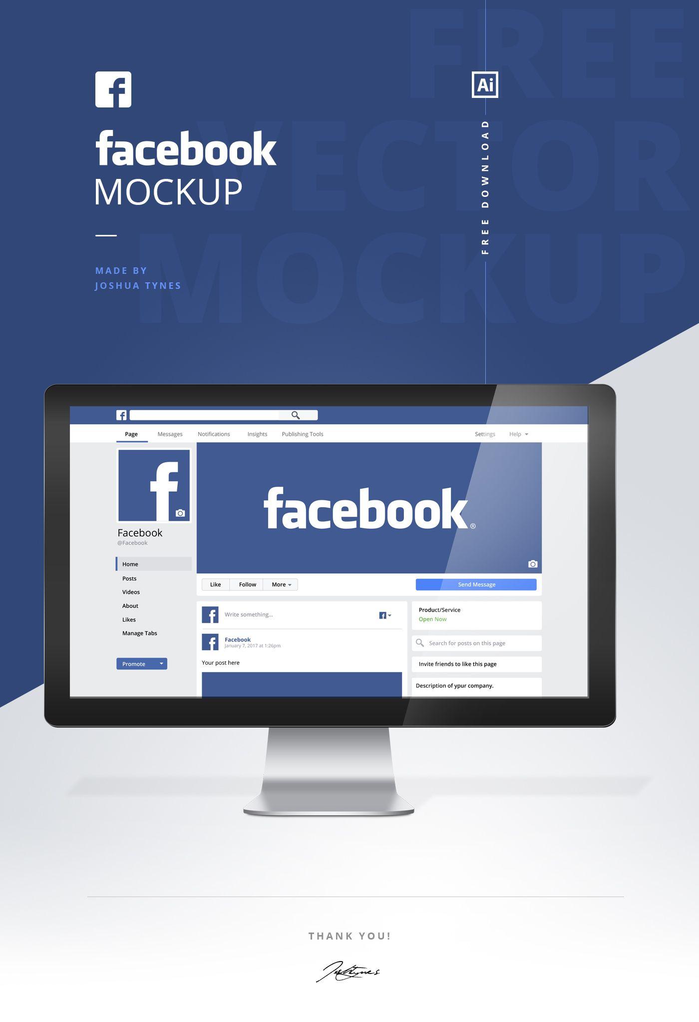 Facebook Mockup - | mockup | Facebook mockup, Mockup