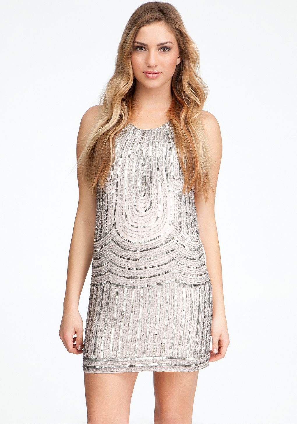 Bebe sleeveless bead dress online only bebe fashion sleeveless bead dress layered polyester chiffon sparkling art deco inspired beadwork and luxe heavy drape make this bebe cocktail dress a perfect party ombrellifo Choice Image