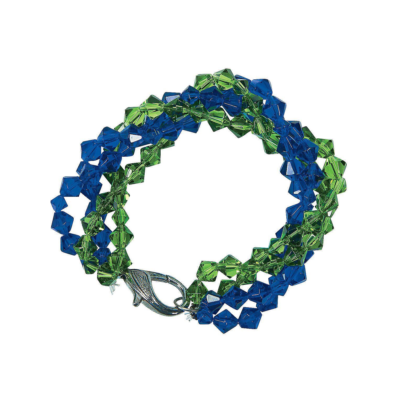 Blue Green Twist Bracelet Idea Twisted Bracelet Green Bead Custom Bracelets [ 1500 x 1500 Pixel ]