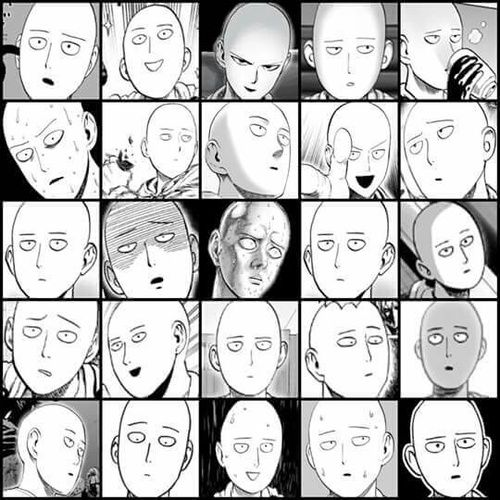 The Many Faces Of Saitama One Punch Man One Punch Man Funny One Punch Man Anime One Punch Man