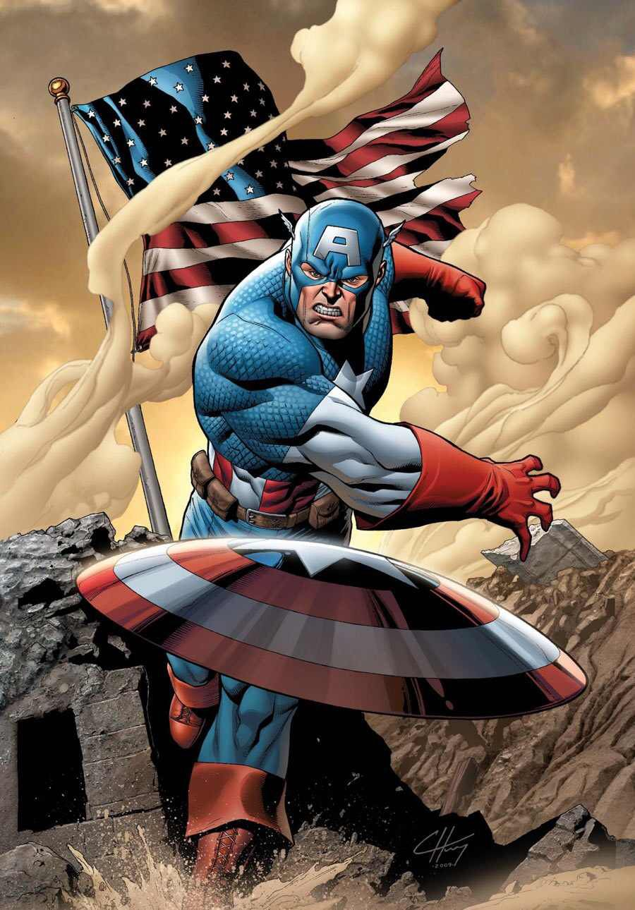 Captain America Throwing His Shield Captain America Comic