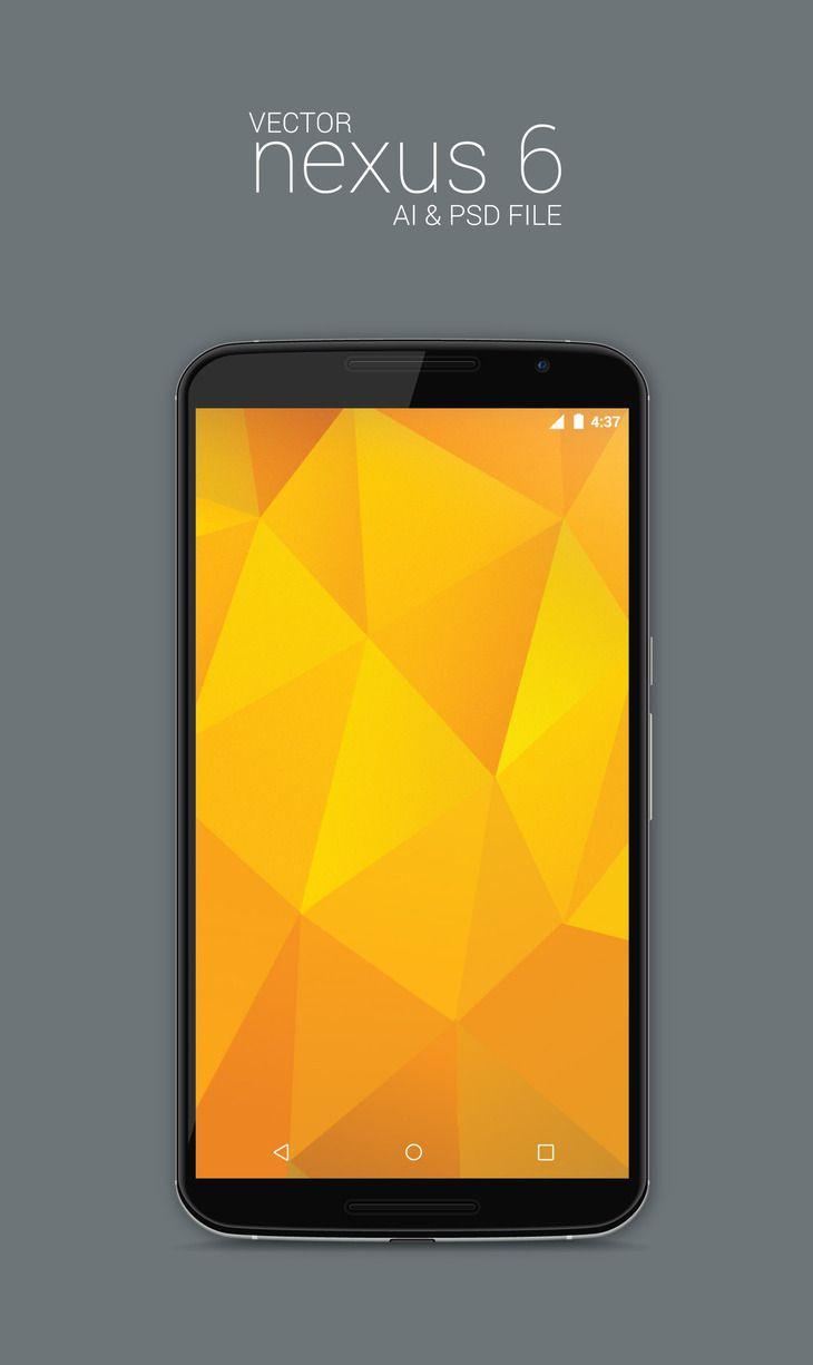 Vector Nexus 6 Model Mockup Android Mockup Web App Design Mockup Free Psd