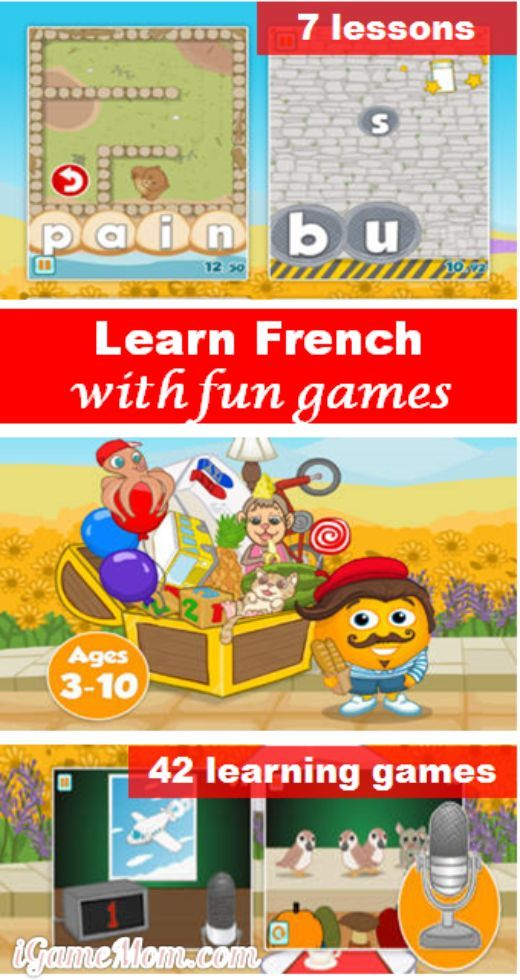 Learn French with Fun Games Learn french, French kids