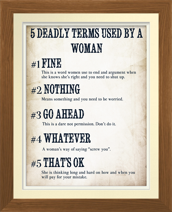 5 Deadly Terms Used By A Woman Poster Zazzle Com In 2020 Funny Picture Quotes Life Mantras Funny Quotes