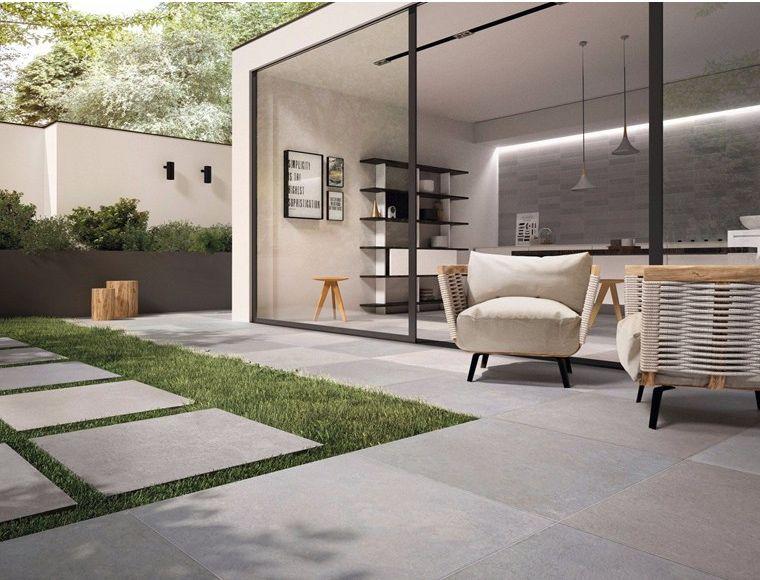 Flaviker Porcelain Stoneware Tiles Pavimento Esterno Progetto Casa Esterno